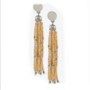 Ralph Lauren Beaded Clip on Tassel Earrings
